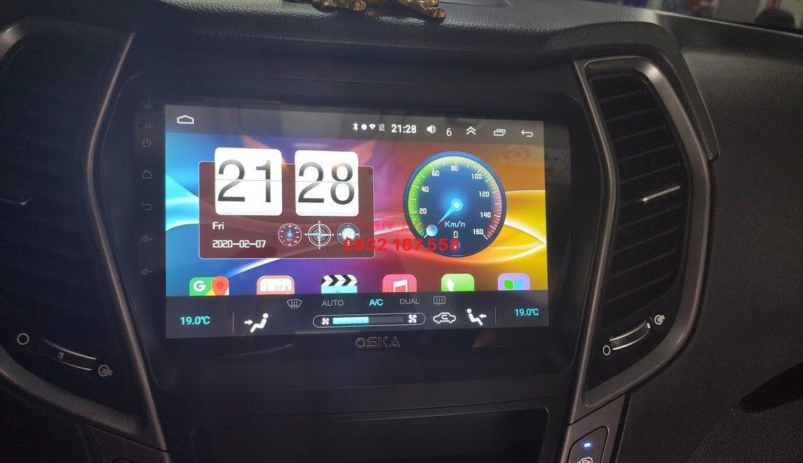 Màn hình android cho Hyundai Santafe
