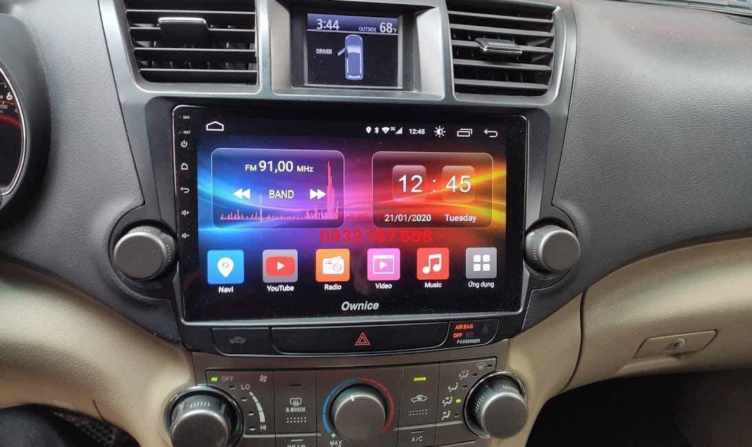 Màn hình android cho Toyota Highlander