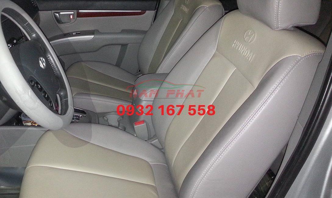 Bọc ghế da cho Hyundai Santafe