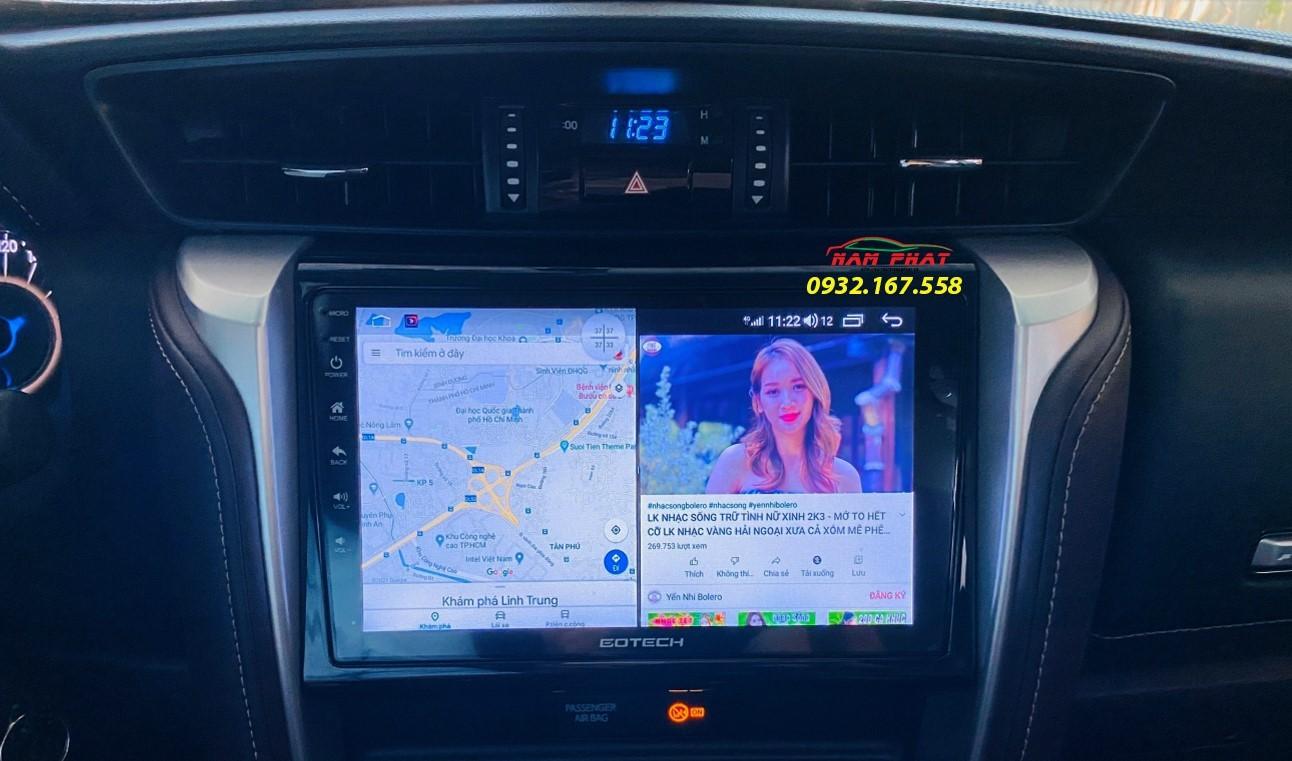 Màn Android ô tô Gotech tại Bình Thạnh