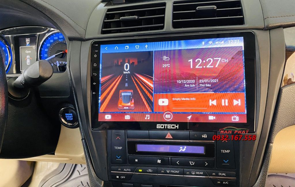 DVD Android Gotech cho Toyota Camry